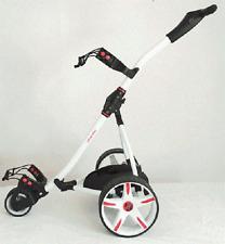 Z1 Trolley Da Golf Elettrico Bianco + 36 FORI Batteria & Caricabatteria