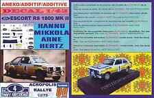ANEXO DECAL 1/43 FORD ESCORT RS 1800 ROTHMANS H.MIKKOLA ACROPOLIS 1979 DnF (01)
