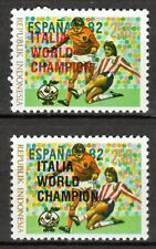 Indonesia - 1982 Soccer championship Spain overprinted - Mi. 1066a+b MNH