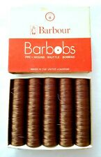 Barbour Barbobs Pre-Wound Shuttle Bobbins Pack 50 x BROWN 870 Style B 44 MTRS