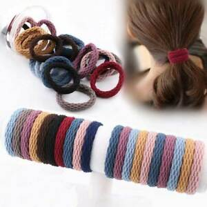 10/20 PCS Elastic hair bands bobbles Colourful THICK STRONG women girls Endless