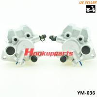 Caltric 2 Front Brake Disc Rotor W//Pad Compatible with Suzuki Lt-Z250 Ltz250 Quadsport Z250 2004-2009
