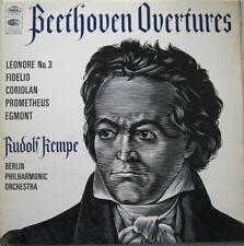BERLIN PHILHARMONIC ORCHESTRA - RUDOLF KEMPE  - BEETHOVEN OVERTURES -  LP