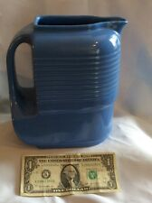 circa 1940's Hall China Co. blue pitcher made for Westinghouse-very good