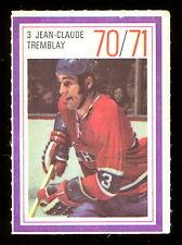 1970-71 ESSO POWER PLAYERS NHL #3 JEAN-CLAUDE TREMBLAY CANADIENS UNUSED STAMP