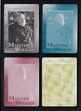 2018 Game of Thrones Season 7 Printing Plate Set card # 65 Maester Wolkan