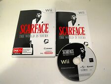 """Scarface The World Is Yours For Nintendo Wii """"Fast & Free Postage"""""""