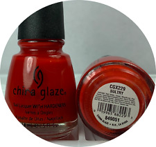 china glaze nail polish * sultry 229 opaque brightest orange red creamy lacquer