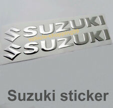 Suzuki S Sticker Logo Motorcycle Chrome Silver Tank Decal Emblem 3D Motorrad