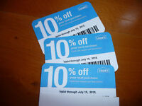 (20𝓧) Lowes 10% ᴏff Competitor Oɴʟʏ Blue Cards  Home Depot   EXP MARCH 2021