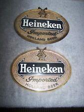 VINTAGE PAIR OF 1964 VAN MUNCHING HEINEKEN IMPORTED HOLLAND BEER WALL DECOR SIGN