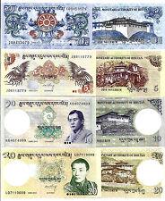 Bhutan 1 5 10 20 Ngultrum 2011-2013 UNC P 27 B 28 B 29 B 30 B