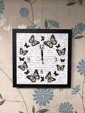 LED ButterFly Clock 30cm