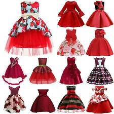 Girls Ball Gown Princess Dress Christmas Party Prom Birthday Kids Age 2-10 Years