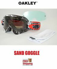 OAKLEY® O-FRAME® GOGGLES SAND MX ATV MOTOCROSS MOTORCYCLE CHECKER W TINT + CLEAR