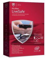 McAfee LiveSafe Livesafe 2017 Computer-Schutz Antivirus Programm