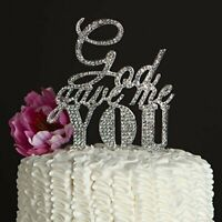 God Gave Me You Cake Topper Wedding Cake Rhinestone Decorating Engagement Party