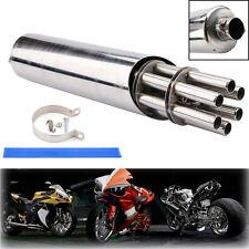 32mm Universal Rotating Gatling Gun Exhaust Muffler Vent Pipe Slip-on Motorcycle