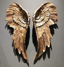 Wanddeko Engelsflügel Gold 54x22cm Flügel 2 Stück Antik  Engel Dekoration Neu