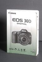 Canon EOS 30D Digital Camera Instruction Book / Manual / User Guide