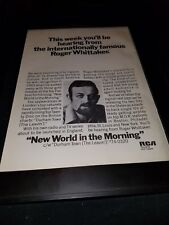 Roger Whittaker New World In The Morning Rare Original Promo Poster Ad Framed!
