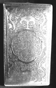Antique hand engraved Persian solid silver cigarette case 204 gs ref 661