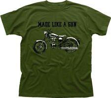 Royal Enfield - Made like a Gun logo T-Shirt - retro motorcycle olive OZ01532