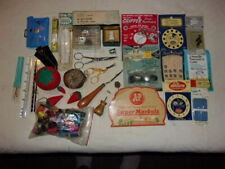 Vintage Sewing Lot Thimbles Snaps Buttons Pin Cushions Needles Scissors More