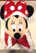 Disney Parks Santa Minnie Mouse Pillow Pal Pet Plush Doll NEW