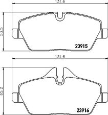Mintex Front Brake Pad Set MDB2682  - BRAND NEW - GENUINE - 5 YEAR WARRANTY