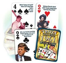 1961 Trivia Playing 52 Card Deck Nostalgia 57th Birthday / Anniversary / Reunion