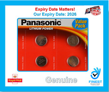4 X Panasonic CR2032 3 v al litio moneta cella BATTERIA 2032 BATTERIE BRAND NEW STOCK