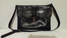 Kenneth Cole New York Men's Black Leather Shoulder Bag Brief Case