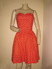 Vintage 80s Limited Express Red/White Polka Dot Strapless Girly Girl Dress Xs/S