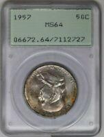 1958-D PCGS 50C Silver Franklin Half Dollar MS64 OGH Rattler Holder Toned