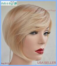 100% Heat Friendly Wig Short BOB WITH BANGS Attractive Sexy COLOR T27.613 1245 A