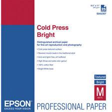 """Epson S042307 Cold Press Bright Paper (8.5 x 11"""", 25 Sheets)"""