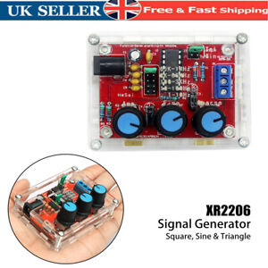 XR2206 Signal Generator Sine/Triangle/Square Wave Frequency Adjustable Utility