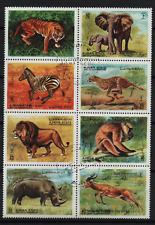 003. Ajman 1972 Wild Animals block of 8 used