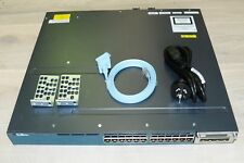 Cisco WS-C3560X-24P-E (originally -S/-L) 24-Port PoE Switch w/ C3KX-NM-1G + PSU
