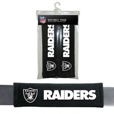 NFL Oakland Raiders 2 Pack Velour Seat Belt Shoulder Pads Car Auto Truck