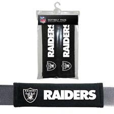 NFL Oakland Raiders 2 Pack Velour Seat Belt Shoulder Pads Car Auto Truck