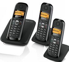 Siemen Gigaset AS180 analog ECO DECT schnurloses Telefon strahlungsarm TRIO /3er