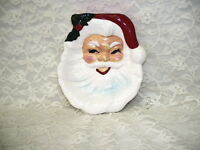 SANTA CLAUS SPOON REST OR TABLETOP CHRISTMAS DECOR VINTAGE JAPAN