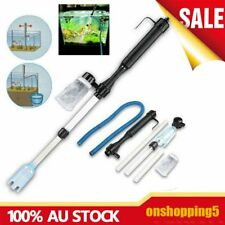 Aquarium Battery Syphon Operated Fish Tank Vacuum Gravel Water Filter Cleaner CO