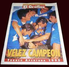 "VELEZ SARSFIELD Apertura Champion 1995 Special Magazine + Team Poster 11 x 8,3"""