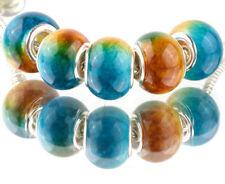 5pcs SILVER MURANO Gradient spacer beads fit European Charm Bracelet DIY A#933