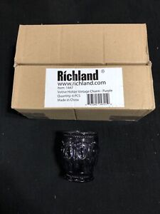 Richland Votive Holder Vintage Charm Color Purple (Set 6) #1447 (NEW)