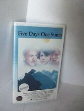 FIVE DAYS ONE SUMMER, SEAN CONNERY, VHS RARE 1982-83 WARNER BROS