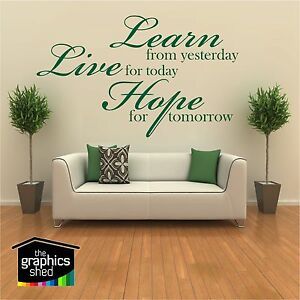 learn live hope wall art quote home living room sticker design art present viny